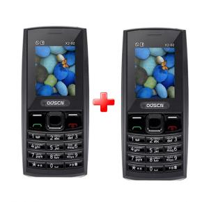 2 In 1 Bundle Offer ODSCN X2-02 Mobile, 1.77 Inch Display, Dual SIM, Camera - Black