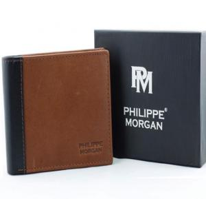 Philippe Morgan premium Leather Wallet PM027, Brown
