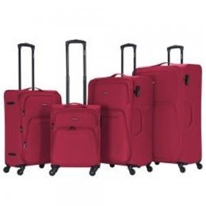 Viptour 4pcs 20 inch, 24 inch, 28 inch and 32 inch Light Weight Trolley, VT-A383, Burgundy