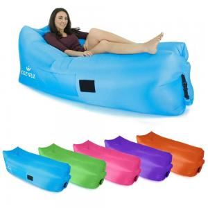 Portable Inflatable Air Bed Sofa Outdoor Beach Camping Sleeping Lazy Bag Assorted Color