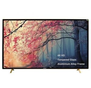 MEWE 50-Inch 4K Smart LED TV Tempered glass screen Metal Frame TA5000