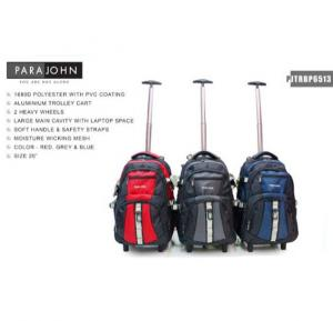 Para John 20 Inch Trolley Backpack Luggage Blue - PJTRBP6513