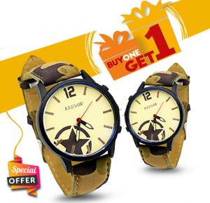 Buy 1 get 1 offer Keinaw Designary wrist watch for Men, M-8932