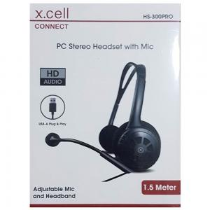 Xcell HS-300PRO Over Ear PC Headphone With Mic