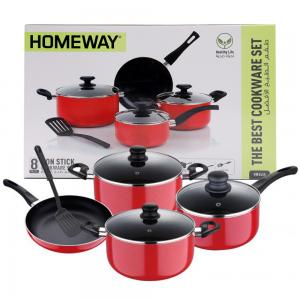 Homeway Non Stick Cookware Set 8Pcs HW3455