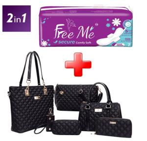 2 In 1 Combo Offer Free Me Lady Sanitary Pad with 6 piece Bags Hot Package Black