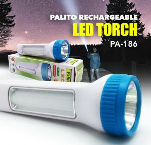 Palito Rechargeable Flash Light With Emergency Light PA 186, Powered By 20+5W Pieces High Bright LED