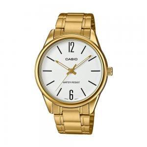 Casio Mens Analog White Dial Watch, MTP-V005G-7BUDF
