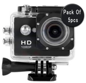 5 IN 1 Bundle Offer, Sport Full HD 1080p Action Camera 30 Meters WaterProof 2 Inch Screen, 120 Degree Wide Angle