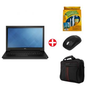 Bundle Offer! Dell 3552 Laptop, Intel Celeron, 4GB RAM, 500GB Storage, 15.6 inch LED Display, DOS & Get Laptop Bag + USB Mouse + Cleaning Kit FREE