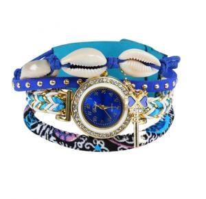 Sea Shell Bracelet Watch blue