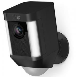Ring Spotlight Cam 1080p Outdoor Wi-Fi Camera with Night Vision (Battery-Powered, Black)-8SB1S7-BEN0