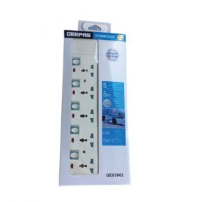 Geepas Extension Socket 5 Way 5M - GES5802