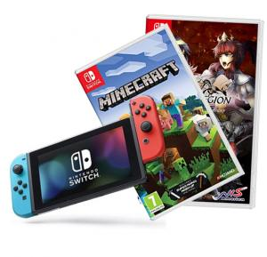 Nintendo Switch Console +1 Accessories +Minecraft and Fallen legion games  Offer pack