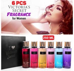 Victoria Secret 6 Pcs Mist Fragrance Gift Set for Women - 250 Ml Each
