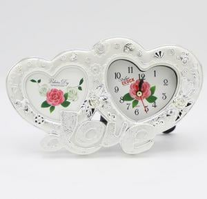 Bait Al Designary Table Clock With Photo frame Heart Shape