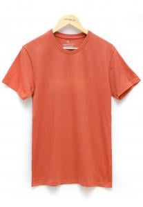 Address Orange Plain T-Shirt Round Neck