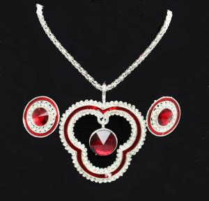 Silver Plated Fancy Jewelry With Earring for Women - JWL19