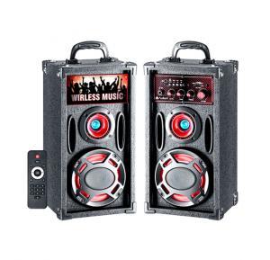 Audionic BT-150 Classic Wireless 2.0 Channel Speaker,USB or SD/MMC Card Support,Bulit-in FM Radio