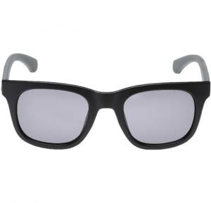 Calvin Klein Rectangular Matte Black Frame & Black Mirrored Sunglasses For Men - CKJ787S-002