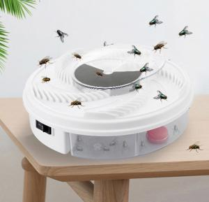 T&F Electric Fly Trap Device with Trapping Food - White USB Cable