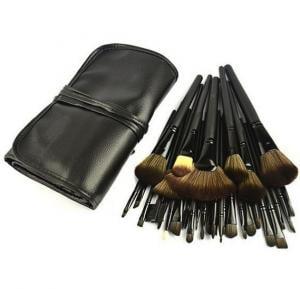 32 Pcs Cosmetic Facial Make up Brush Kit ,crystal goat hair makeup Brush professional