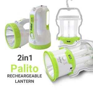 2 in 1 Bundle Palito LED Solar Rechargeable Lantern, PA-778 And Palito Rechargeable Search Light PA 980