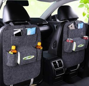 Car Storage Bag Organizer Universal Back Seat Bags Backseat Trunk Travel Holder Box Pockets Protector, IN30 Dark Gray