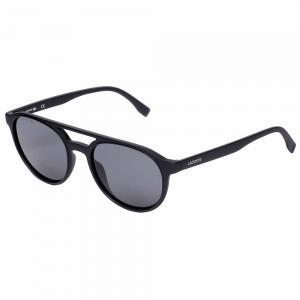 Lacoste L881S Black Round Sunglasses For Unisex Gray Lens, Size 52