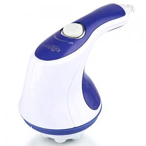 Professional Relax and Spin Tone Handheld Body Massager, White And Blue