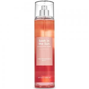 Bath and Body Works Soak in the Sun Peach Sunset Fine Fragrance Mist 8 Fluid Ounce (2020 Limited Edition)
