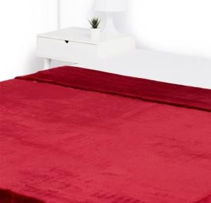 Double 1-Ply Layer Rachel Blanket Polyester Red 200 x 240 centimeter