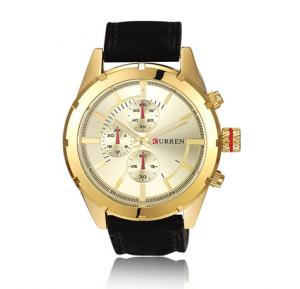 Curren 8154 Watch For Men Leather Strap