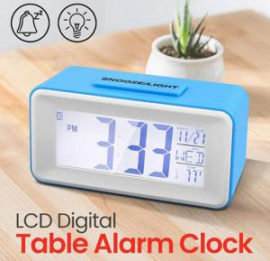 Multi-Colour LCD Digital Desk / Table Alarm Clock, DS-3620