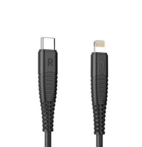 RAVPower Type C To Lightning Cable Nylon 1m Black, RP-CB061
