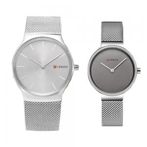 Curren pair watches Silver
