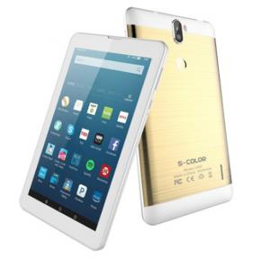 S-Color U707 7 inch 4G Tablet, 2GB DDR, 16GB Flash, Dual SIM, Dual Camera With 3D Glass - Gold