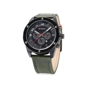 Curren 8204 Watch For Men Leather Strap