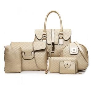 6 Pcs Women Hand Bag Set WB19-17 - Gold
