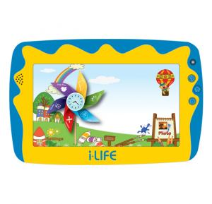 i-life Kids Tab 5, Android OS, 7.0 Inch HD Screen, 8GB Storage, Dual Camera, Quad-Core Processor- Blue, Free Case and Head Phone