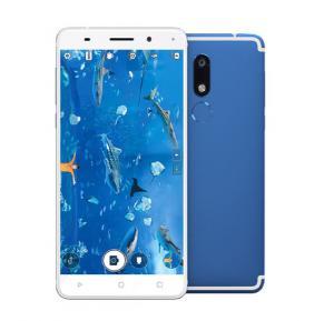 W&O W7 4G Smartphone, Android 7, 5.5 Inch Display, Dual Sim, Dual Camera, 4GB RAM, 64GB Storage, Octa CoreProcessor - Blue