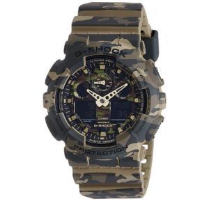 Casio G-Shock GA-100CM-5ADR Analog-Digital Green Dial Men Watch