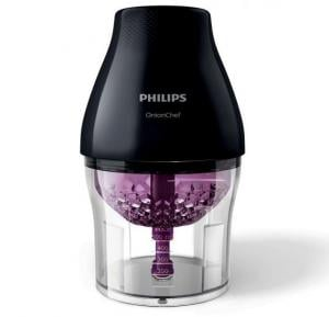 Philips Viva Collection Onion Chef Chopper Chop Drop, Black