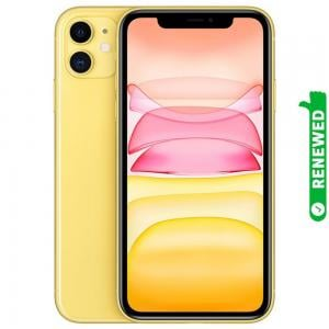 Apple iPhone 11 With FaceTime Yellow 64GB 4G LTE Renewed- S