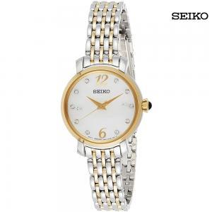 Seiko Ladies Analog Stainless Steel White Dial Watch, SRZ522P1