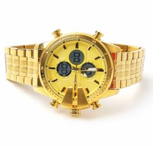Ristos Analog Digital watch Gold