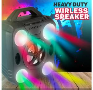 Heavy Duty Superb Bass Magic Lights 8W Stereo Wireless Bluetooth Speaker Supports Micro SD & USB Support - Q910