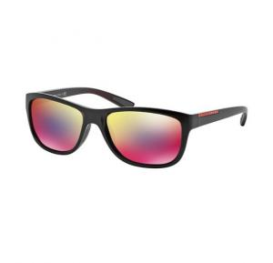 Prada Wayfarer Bordeaux Semi Shiny Frame & Dark Grey Mirror Blue Red Mirrored Sunglasses For Unisex - 0PS05PS-SL89Q1