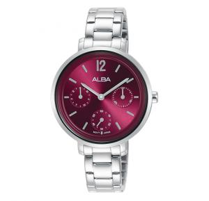 Alba Rose red dial and 30m water resistant Analog Watch For Women AP6653X1