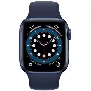 Apple Watch Series 6-44 mm GPS Blue Aluminium Case with Deep Navy Sport Band